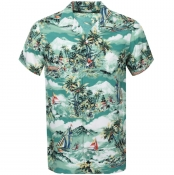 Ralph Lauren Floral Short Sleeve Shirt Green